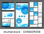 website template design with... | Shutterstock .eps vector #1048609058