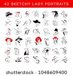 vector artistic hand drawn... | Shutterstock .eps vector #1048609400