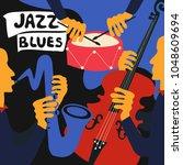 jazz music festival colorful... | Shutterstock .eps vector #1048609694