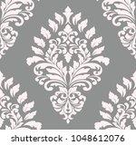 vector damask seamless pattern... | Shutterstock .eps vector #1048612076