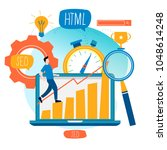 seo  search engine optimization ...   Shutterstock .eps vector #1048614248