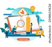 education  online training... | Shutterstock .eps vector #1048614626