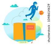 education  online training... | Shutterstock .eps vector #1048614629