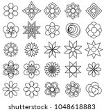 outline flower vector set icon... | Shutterstock .eps vector #1048618883