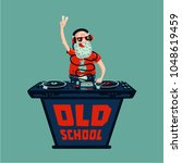 old school retro party. senior... | Shutterstock .eps vector #1048619459