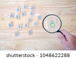 human resource management and... | Shutterstock . vector #1048622288