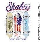 skaters skateborad vector... | Shutterstock .eps vector #1048622960