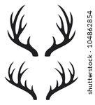 deer horns | Shutterstock .eps vector #104862854