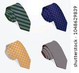 ties set. vector illustration   Shutterstock .eps vector #1048629839