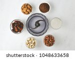 ingredients for energy bites ... | Shutterstock . vector #1048633658