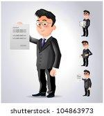 cartoon character office worker ... | Shutterstock .eps vector #104863973
