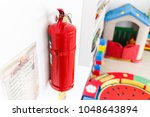 fire extinguisher for emergency ... | Shutterstock . vector #1048643894