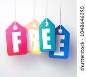 price labels. free.vector... | Shutterstock .eps vector #1048646390