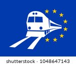 european union and travelling... | Shutterstock .eps vector #1048647143