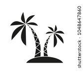 palm black icon | Shutterstock .eps vector #1048647860