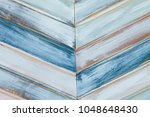abstract of colored wooden... | Shutterstock . vector #1048648430
