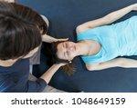 crop woman conducting... | Shutterstock . vector #1048649159