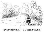 Vector Sketch Of Long Distance...