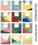 japanese pattern vector. season ... | Shutterstock .eps vector #1048660760