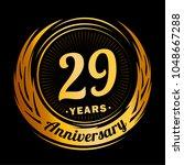 29 years anniversary.... | Shutterstock .eps vector #1048667288