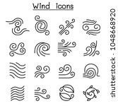 wind icon set in thin line style | Shutterstock .eps vector #1048668920