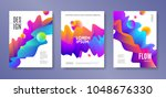 set of cover design with... | Shutterstock .eps vector #1048676330