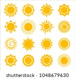 sun icons collection on white... | Shutterstock .eps vector #1048679630