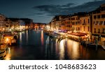 grand canal at night  venice ... | Shutterstock . vector #1048683623