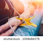 doctor with electrocardiogram...   Shutterstock . vector #1048686578