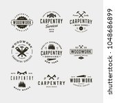 set of vintage carpentry logos. ... | Shutterstock .eps vector #1048686899