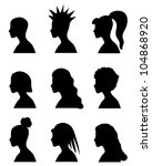 fashion girls silhouettes with... | Shutterstock .eps vector #104868920
