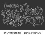 hand drawn vector design of... | Shutterstock .eps vector #1048690403