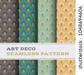 art deco seamless pattern with... | Shutterstock .eps vector #1048694606