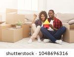 happy african american family... | Shutterstock . vector #1048696316