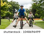 healthy lifestyle   people... | Shutterstock . vector #1048696499