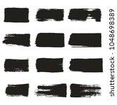 rectangular hand drawn box.... | Shutterstock .eps vector #1048698389