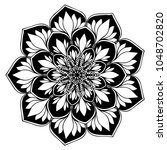 mandalas for coloring book.... | Shutterstock .eps vector #1048702820