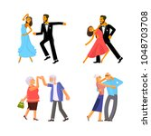happy people in different ages...   Shutterstock .eps vector #1048703708