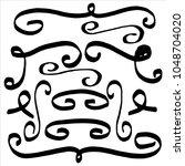 doodle dividers  vector set | Shutterstock .eps vector #1048704020