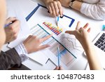 financial paper charts and... | Shutterstock . vector #104870483