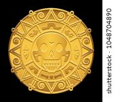gold medallion of pirates of... | Shutterstock .eps vector #1048704890
