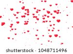 red and pink heart. valentine's ... | Shutterstock . vector #1048711496