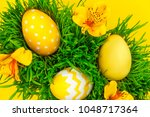 happy easter day. colorful...   Shutterstock . vector #1048717364