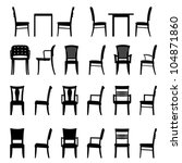 set of armchairs and chairs and ...   Shutterstock .eps vector #104871860
