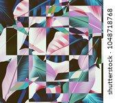 geometrical seamless pattern... | Shutterstock . vector #1048718768