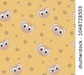 seamless vector pattern with... | Shutterstock .eps vector #1048728503