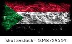 sudan smoke flag | Shutterstock . vector #1048729514