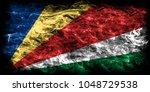 seychelles smoke flag | Shutterstock . vector #1048729538