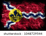 saint louis city smoke flag ... | Shutterstock . vector #1048729544
