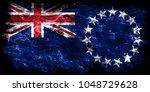 cook islands smoke flag  new... | Shutterstock . vector #1048729628